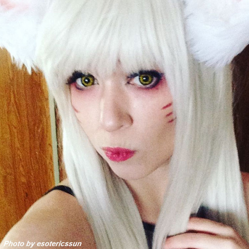 Black wolf 43 colored contacts