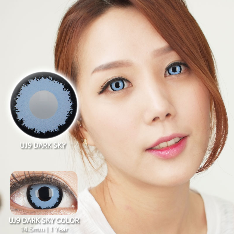 UJ9 Dark SKY colored contacts