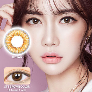 ST3 Brown colored contacts
