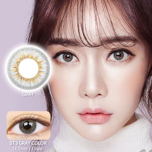 ST3 Grey colored contacts