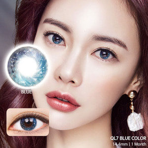 QL7 Blue colored contacts