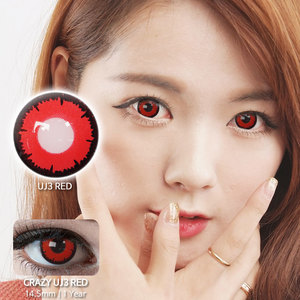 UJ3 Red colored contacts