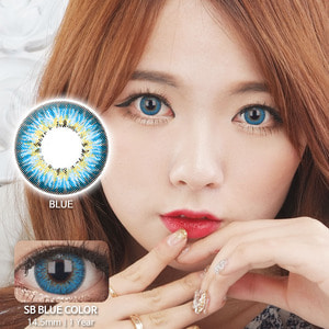 SB BLUE colored contacts
